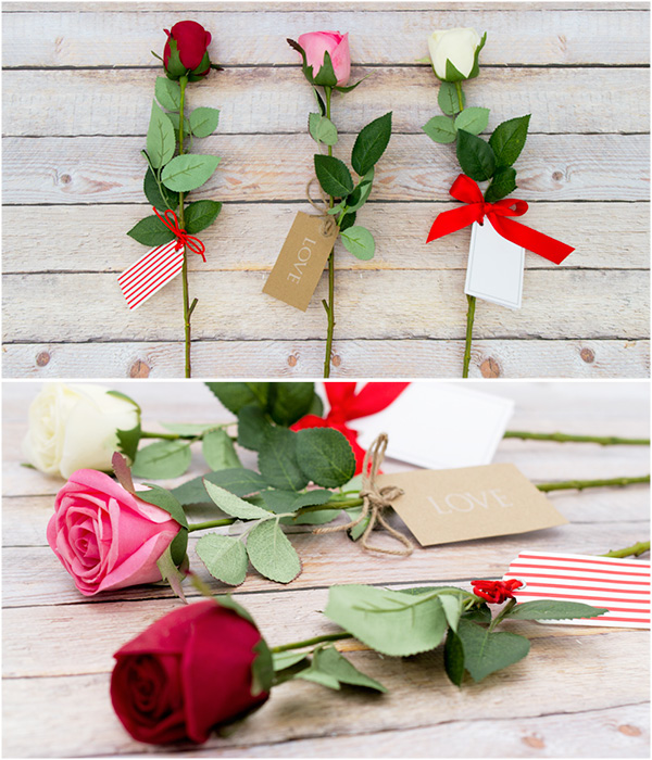 Valentine's Day Silk Roses