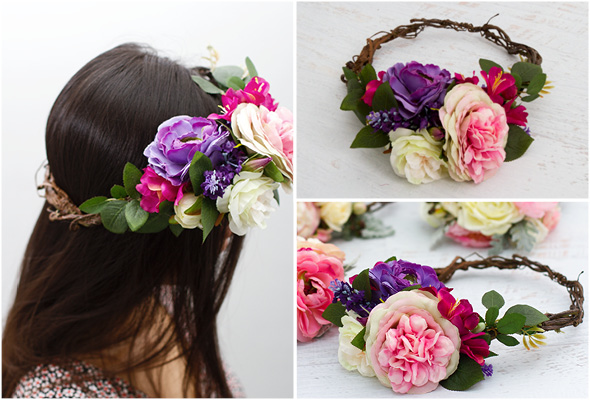 Step 3 Floral Head Wreath DIY