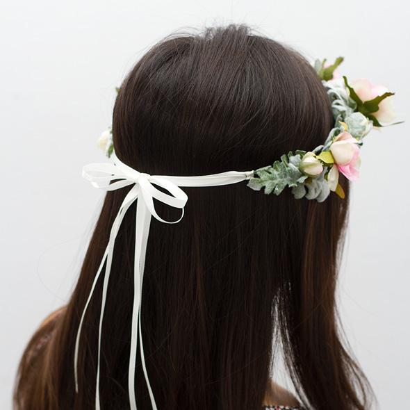step 4 Floral Head Wreath DIY 4