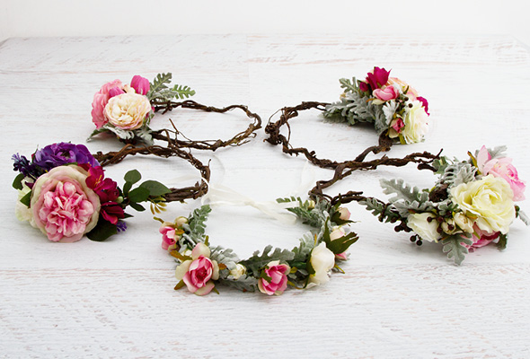How to make a floral head crown Making wreaths
