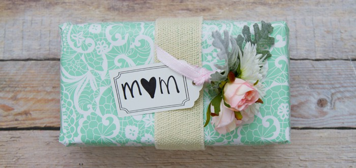 Mothers Day Gift Wrapping Inspiration Hessian Ribbon