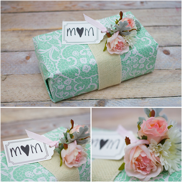 Mothers Day Gift Wrapping Inspiration With Flowers