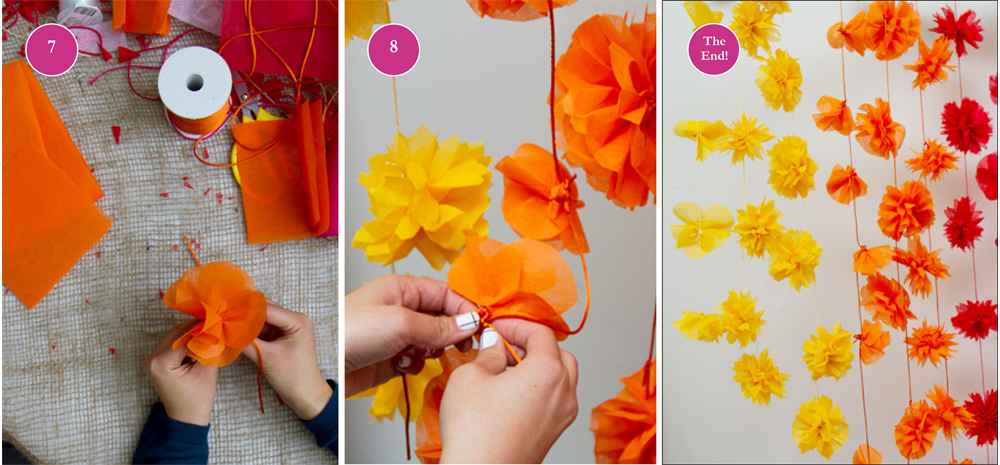 Paper flower craft project floral garland floral garland diy tutorial mightylinksfo