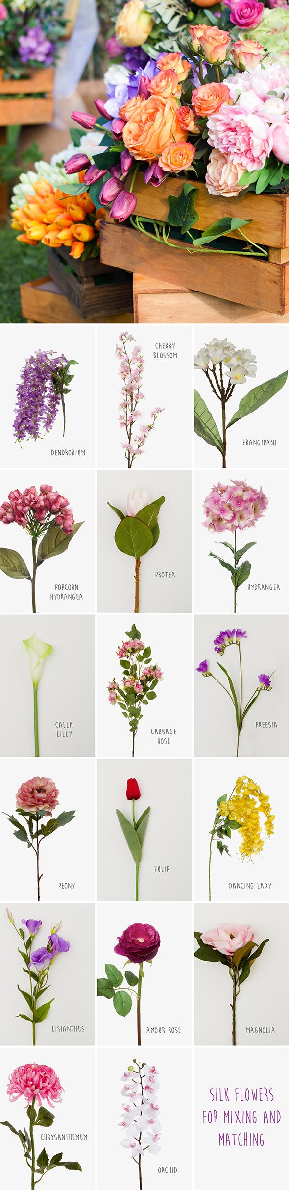 Silk Flowers Chart