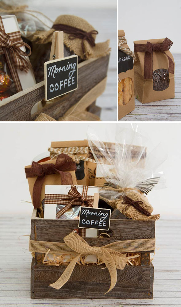 Diy Hamper A Coffee Lovers Wooden Crate