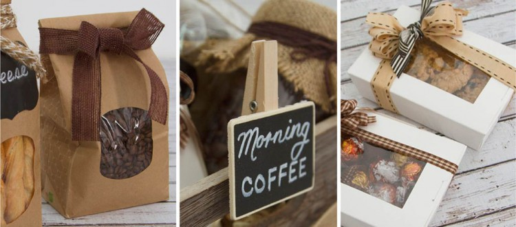 DIY Coffee Hamper Wooden Crates