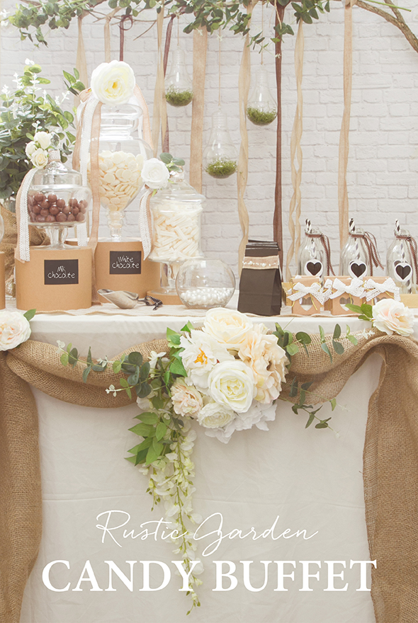 A Rustic Garden Candy Buffet The Koch Blog