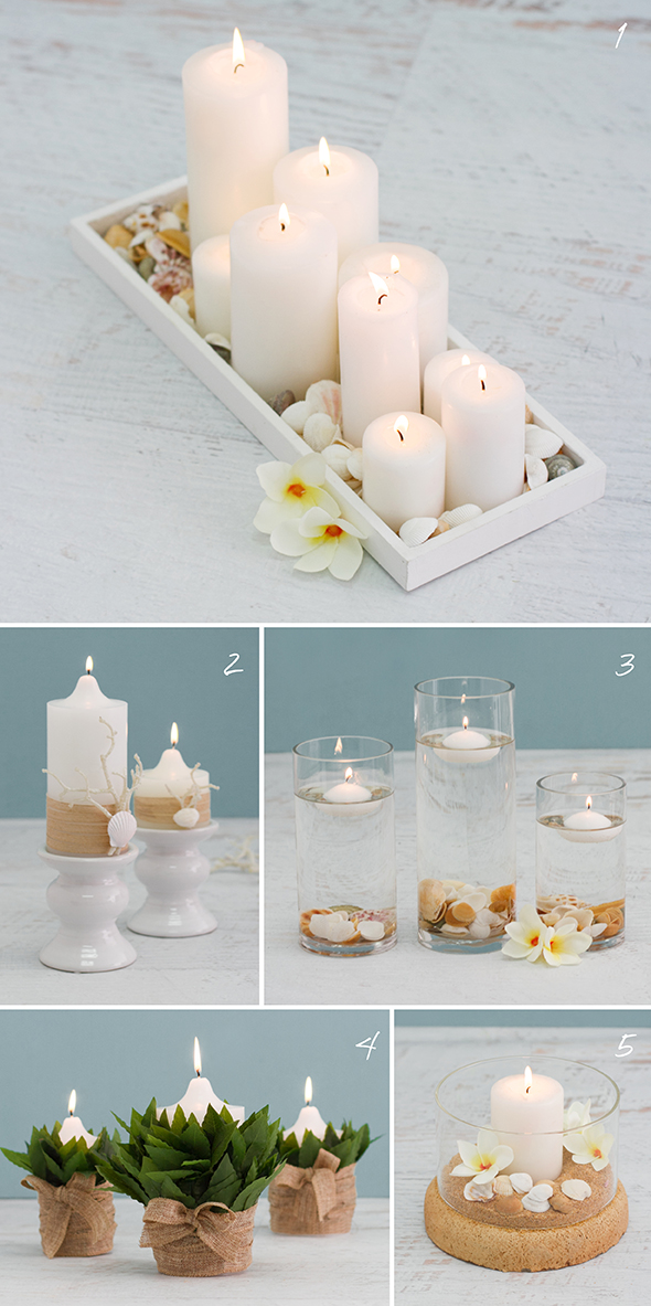 all 5 DIY candle decoration ideas