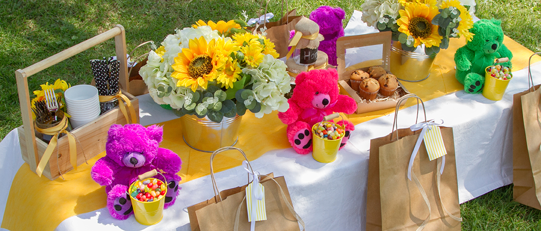 Colourful and creative teddy bears picnic