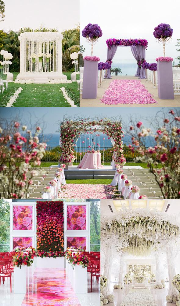 glamorous wedding arch ideas