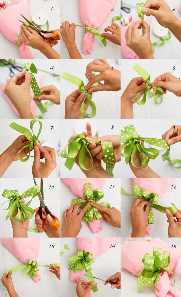 DIY florist bow