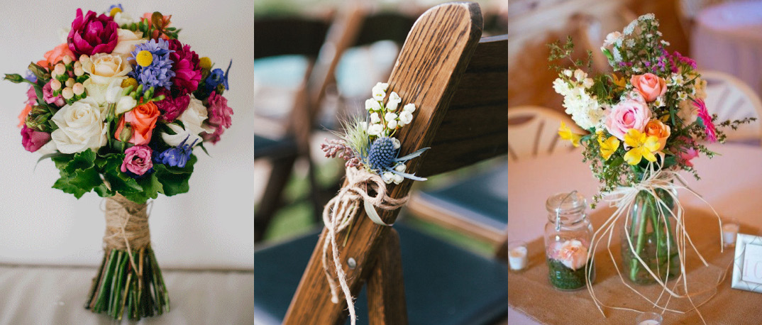 5 ways to decorate with raffia twine for rustic weddings the raffia and twine wedding decorations junglespirit Gallery