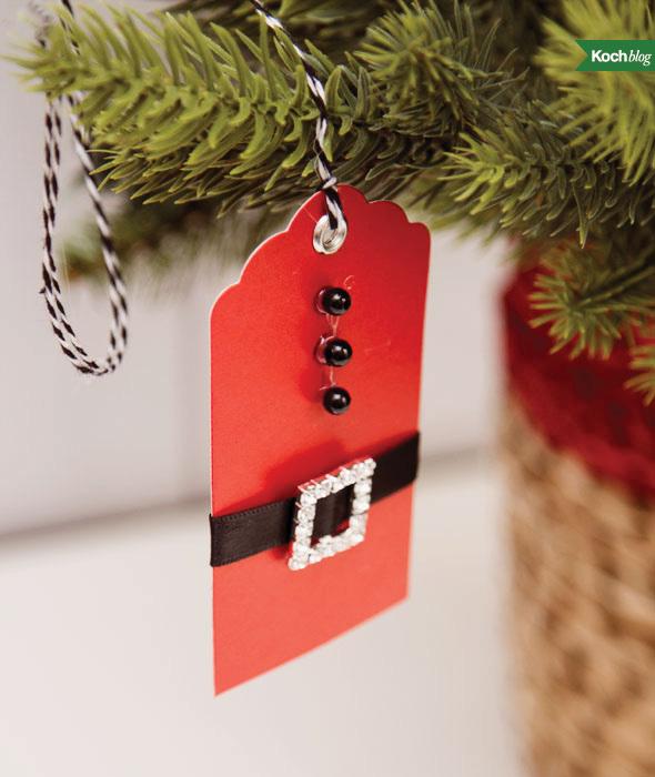 DIY Santa gift tag