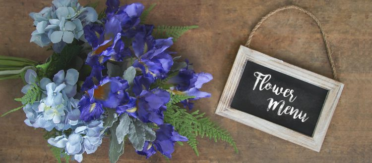Flower menus for busy seasonal occasions