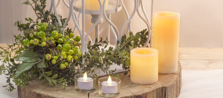 10 ideas on how to decorate flameless candles in your home.
