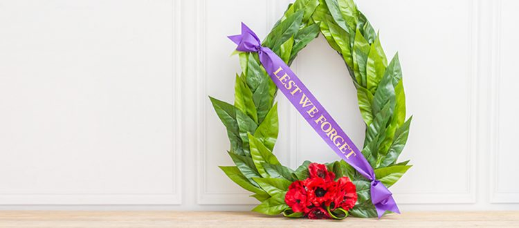 Anzac Day Wreath Main Banner