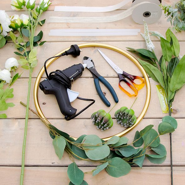 Floral Hoop DIY Supplies