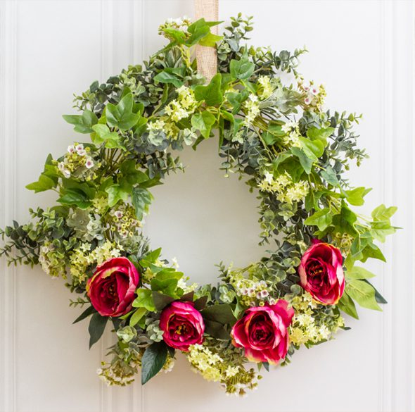 How to use a wire wreath frame - 4