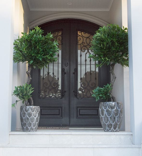 How to Protect Artificial Plants Outside - Under Cover Entrance