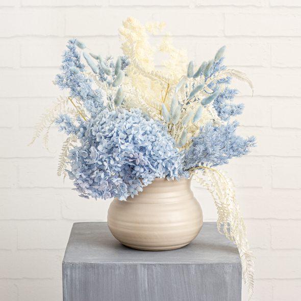 Blue Preserved Dried Flower Arrangement