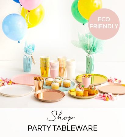 ECO-FRIENDLY PARTY TABLEWARE