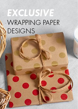 EXCLUSIVE WRAPPING PAPER DESIGNS