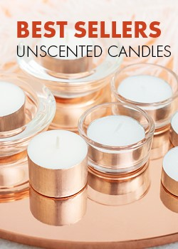BEST SELLERS UNSCENTED CANDLES