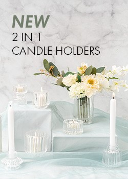 New 2 In 1 Candle Holders