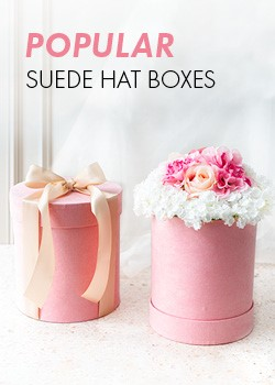 Suede Hat Boxes