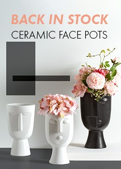 BACK IN STOCK CERAMIC FACE POTS