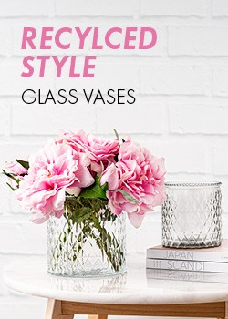 Recycled Style Glass Vases