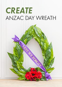 DIY Anzac Wreath