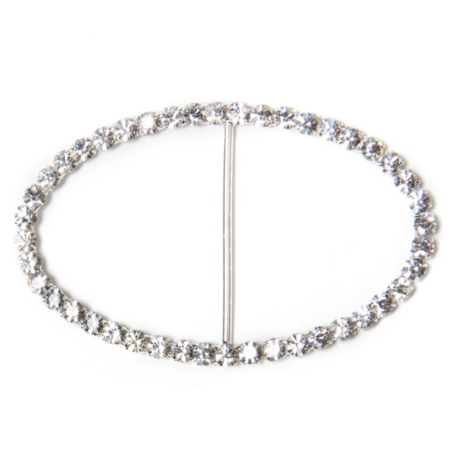 Corsage Buckle Diamante Oval Large (50x80mm) Pack 12