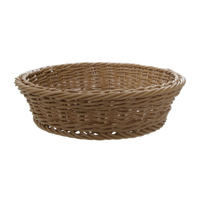Oliver Wicker Hamper Basket Round Brown (35Dx9cmH)