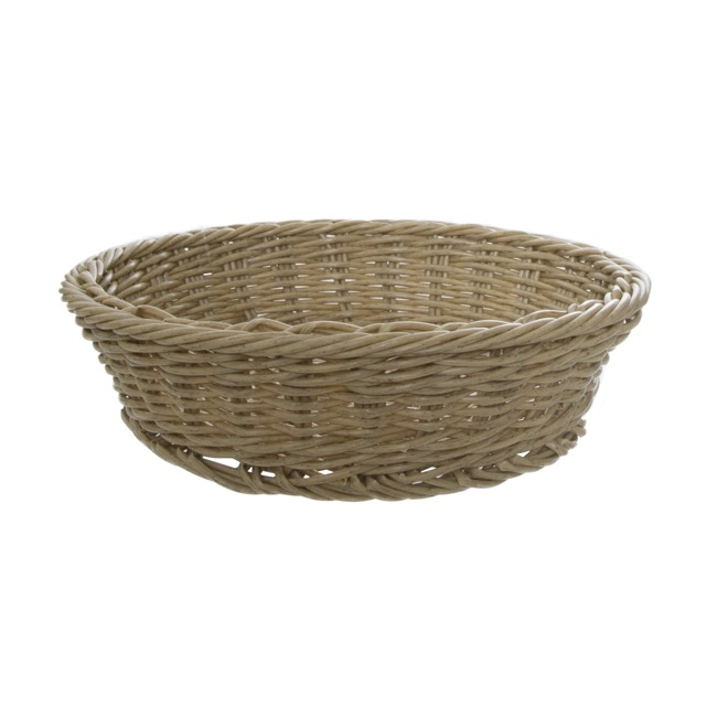 Oliver Wicker Hamper Basket Round Natural(35Dx9cmH)