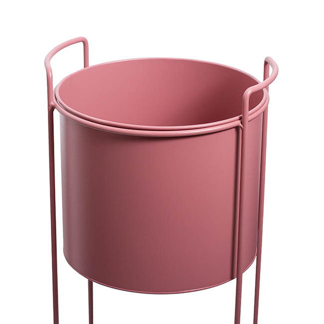 Metal Display Stand With Round Pot Dusty Pink (28Dx80cmH)