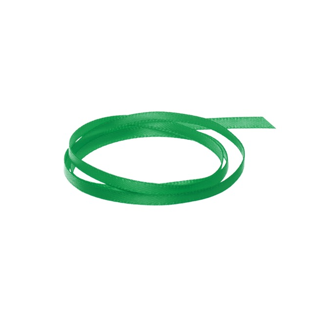 Ribbon Satin Deluxe Double Faced Emerald Green (3mmx50m)
