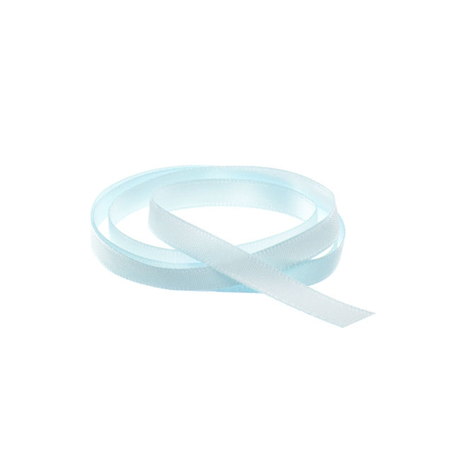 Ribbon Single Face Satin Woven Edge Baby Blue (6mmx20m)
