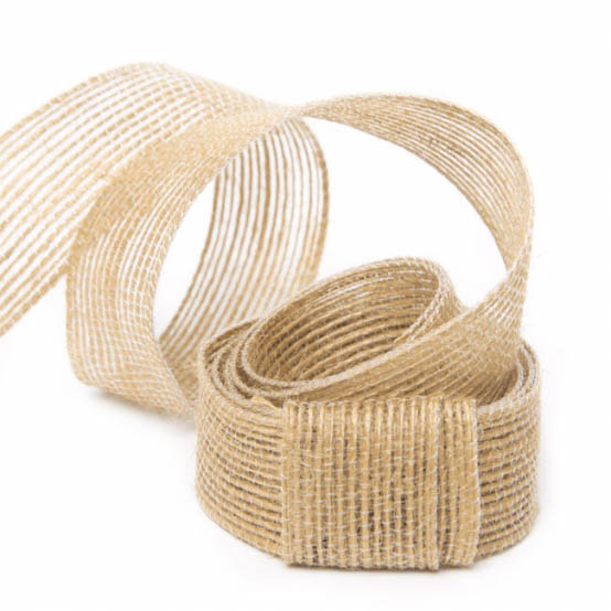 Natural Fiber Jute Ribbon Natural (25mmx10m)