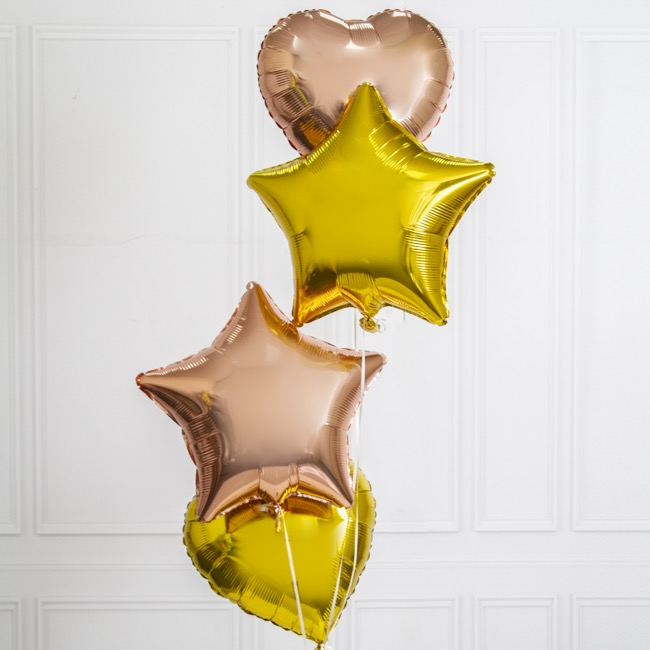 Foil Balloon 18 (45cm) Heart Shape Solid Gold