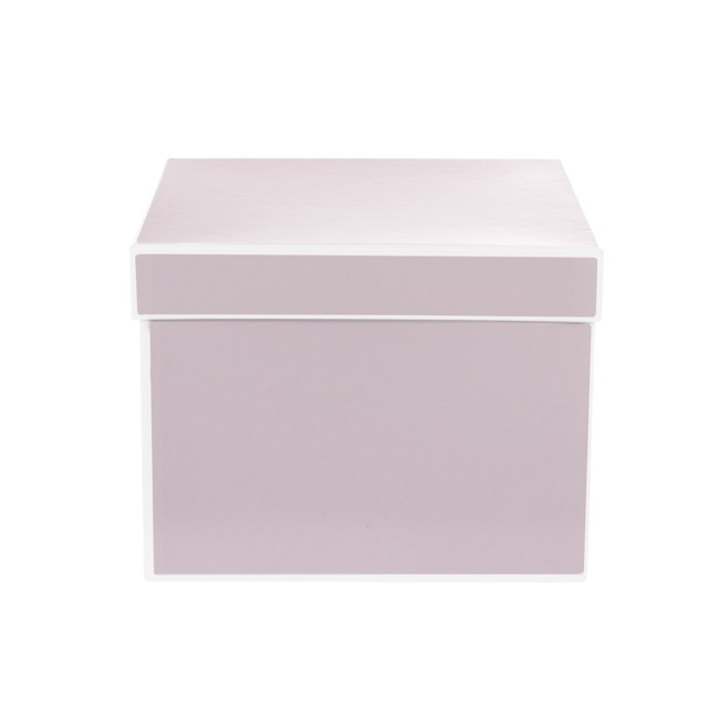 Gift Flower Box Square Silhouette Pink (20x15cmH) Set 3