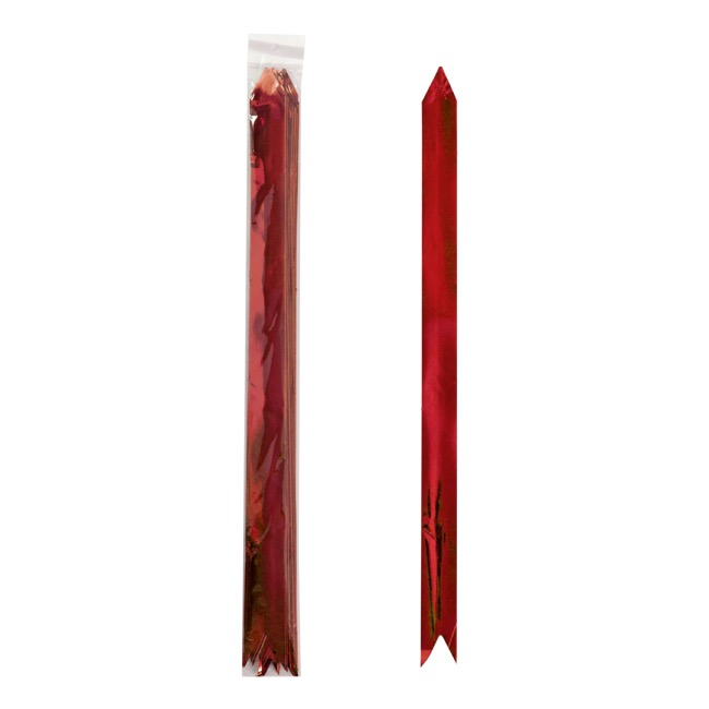 Ribbon Pull Bow Metallic Red (32mmx53cm) Pack 25