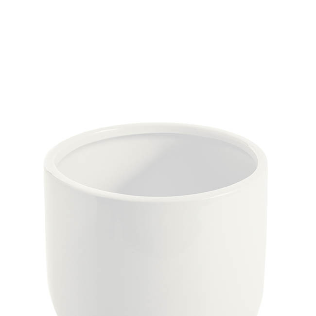 Ceramic Kyoto Pot Planter Glossy Off White (13.5cmx15cmH)