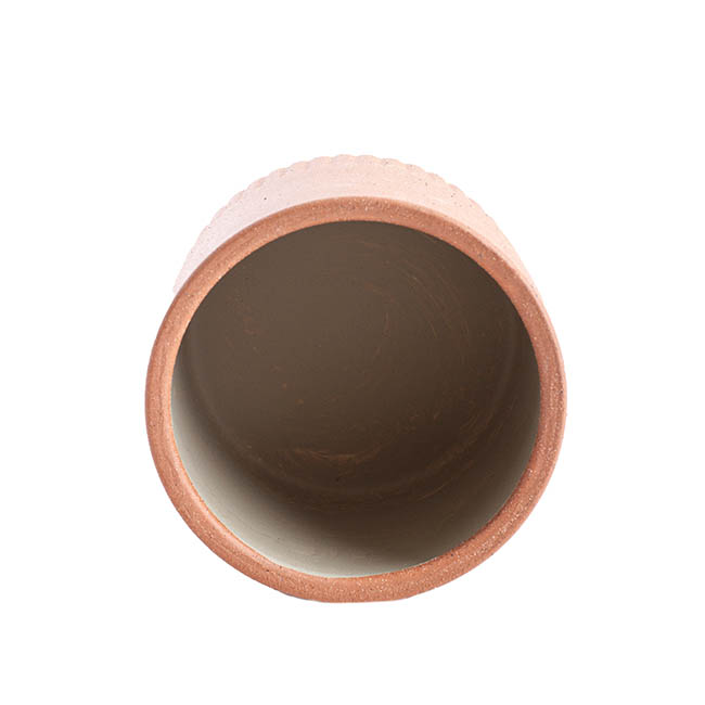 Ceramic Cape Town Pot Pink Clay  (15.3cmx15.5cmH)