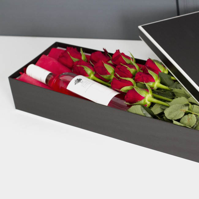Signature Rose Box Silhouette Black White(78x23x12cmH) Set 3