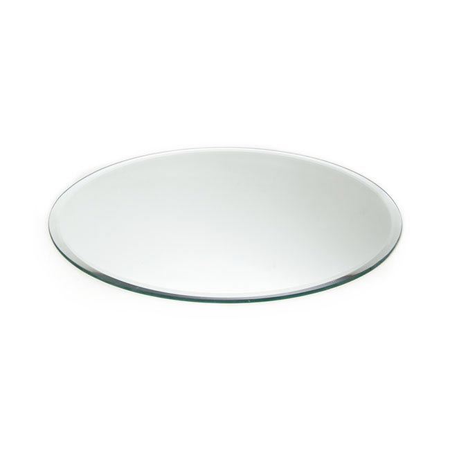 Round Mirror Candle Plate with Bevelled Edge(30cm - 12