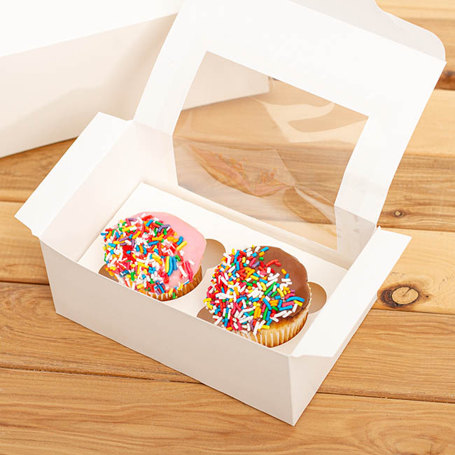 Cupcake Insert Double Cupcakes White (105x175x20mmH)