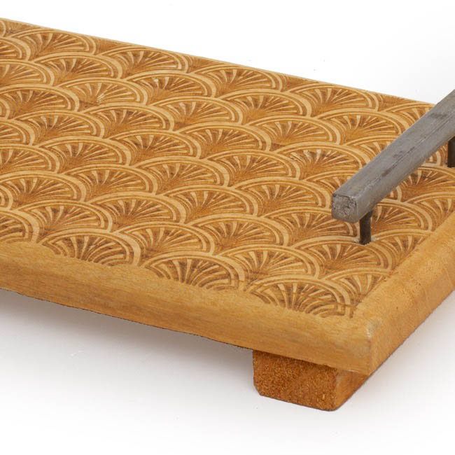 Wooden Tray with Metal Handles (25x17cm)