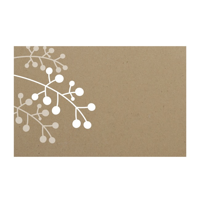 Cards Brown Kraft Branch (10x6.5cmH) Pack 50