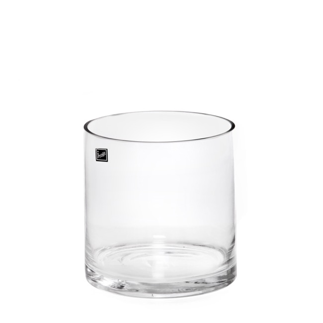 Glass Cylinder Vase Clear (18Dx18cmH)